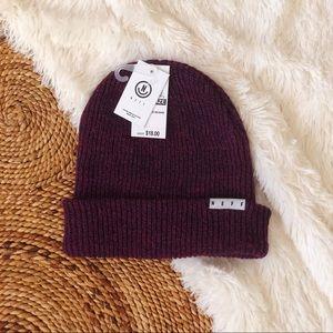 NWT neff fold over knit heather beanie